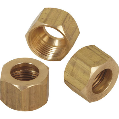Picture of Do it 1/4 In. OD Brass Compression Nut (3-Pack)