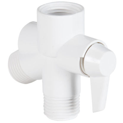 Picture of Do it  1/2 In. MPT White Plastic Shower Diverter