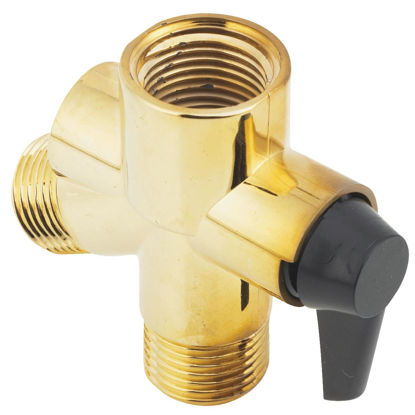 Picture of Do it 1/2 In. Polished Brass Plastic Shower Diverter