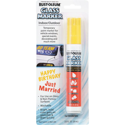 Picture of Rust-Oleum 2/3 Oz. Yellow Window Paint Marker