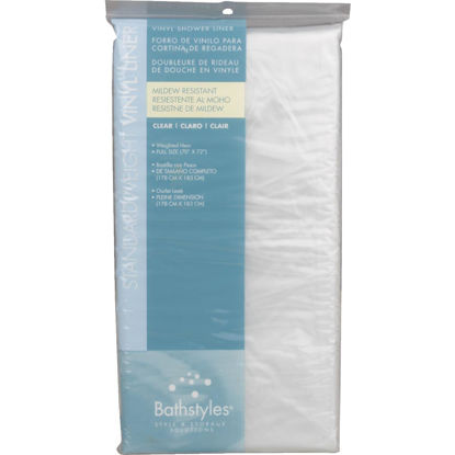Picture of Zenith Bathstyles 70 In. x 72 In. Clear PEVA Shower Liner
