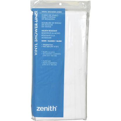Picture of Zenith 70 In. x 72 In. White PEVA Shower Liner