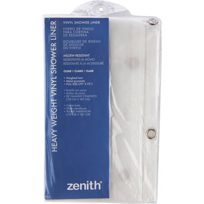 Picture of Zenith 70 In. x 72 In. Clear Medium Gauge PEVA Shower Curtain Liner