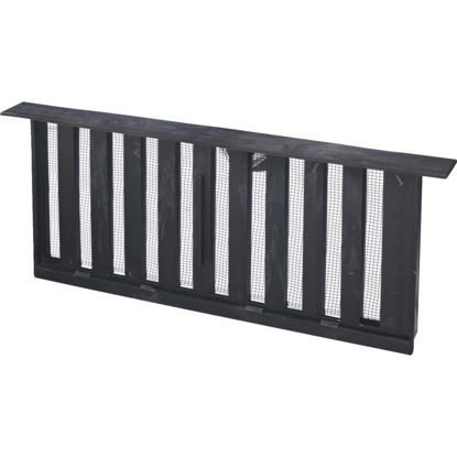 Picture of Witten PMS-1 8 In. x 16 In. Black Manual Sliding Foundation Vent with Lentil