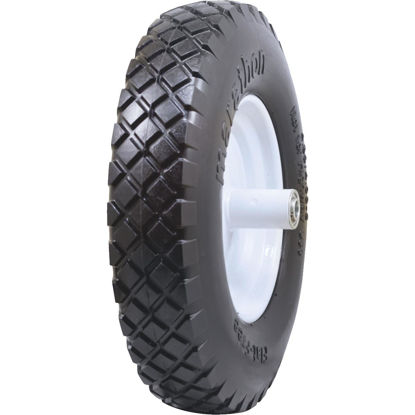Picture of Marathon 16 x 480/400-8 In. Flat Free Wheelbarrow Wheel with Knobby Tread