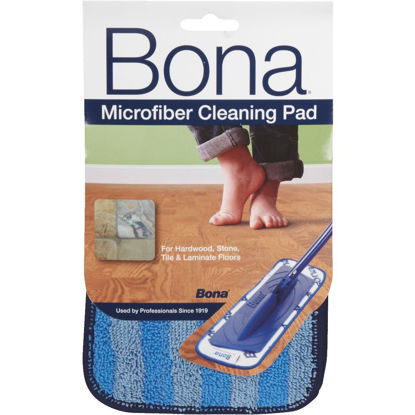 Picture of Bona 4 In. W. x 15 In. L. Microfiber Cleaning Pad Mop Refill