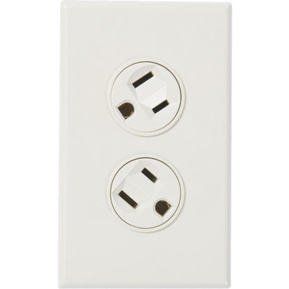 Picture of 360 Electrical 15A White Rotating 5-15R Duplex Outlet