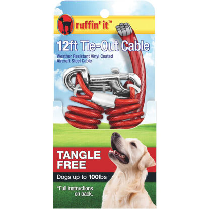 Picture of Westminster Pet Ruffin' it Tangle Free Large Dog Tie-Out Cable, 12 Ft.
