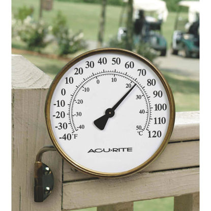 "Picture of Acurite 3-1/2"" Dia Metal Dial Indoor & Outdoor Thermometer"