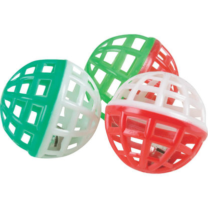 Picture of Westminster Pet Ruffin' it Ball Cat Toy (3-Pack)