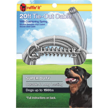Picture of Westminster Pet Ruffin' it Super-Duty Extra Large Dog Tie-Out Cable, 20 Ft.