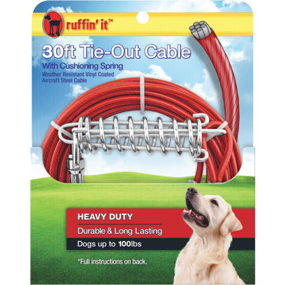 Picture of Westminster Pet Ruffin' it Heavy-Duty Large Dog Tie-Out Cable, 30 Ft.