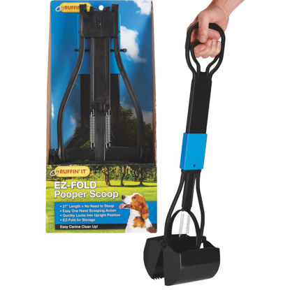 Picture of Ruffin' it EZ-Fold 27 In. Black Plastic Pet Scooper