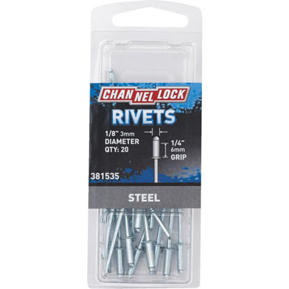 Picture of Channellock 1/8 In. Dia. x 1/4 In. Grip Steel POP Rivet (50-Pack)