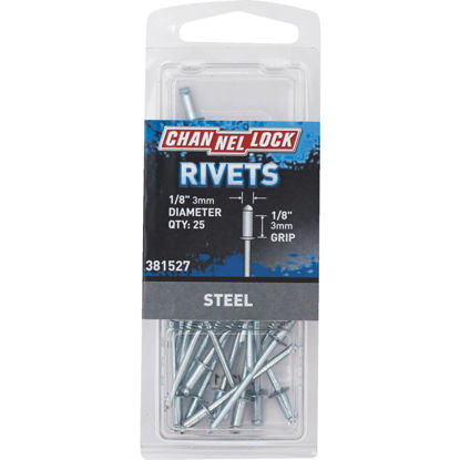 Picture of Channellock 1/8 In. Dia. x 1/8 In. Grip Steel POP Rivet (25-Pack)