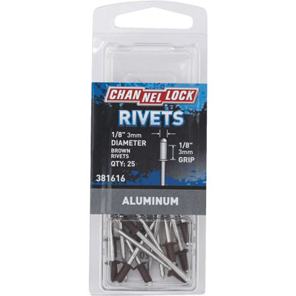 Picture of Channellock 1/8 In. Dia. x 1/8 In. Grip Aluminum POP Rivet (25-Pack)