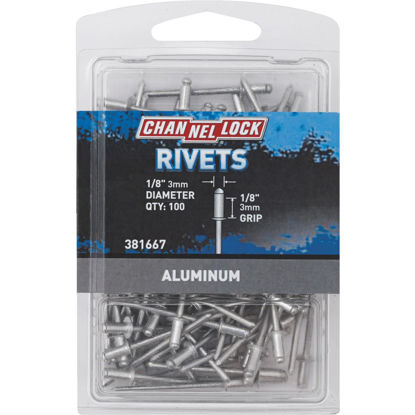Picture of Channellock 1/8 In. Dia. x 1/8 In. Grip Aluminum Multigrip POP Rivet (100-Pack)