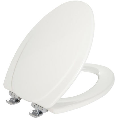 Picture of Mayfair Elongated Closed Front Slow-Close White Wood Toilet Seat