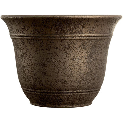 Picture of Listo Sierra 11-3/4 In. H. x 16 In. Dia. Nordic Bronze Poly Flower Pot