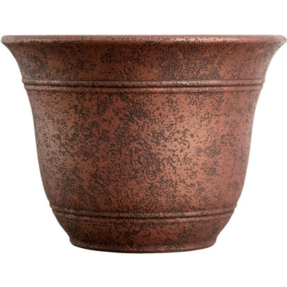 Picture of Listo Sierra 9.63 In. H. x 13 In. Dia. Rustic Redstone Poly Flower Pot