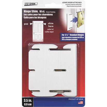 Picture of EZ Shim 3-1/2 In. Plastic Hinge Shim