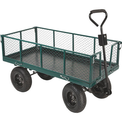 Picture of Best Garden 1000 Lb. Steel Garden Cart with Collapsible Sides