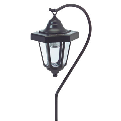 Picture of Outdoor Expressions Black 2.10 Lumens Plastic Hanging Solar Path Light