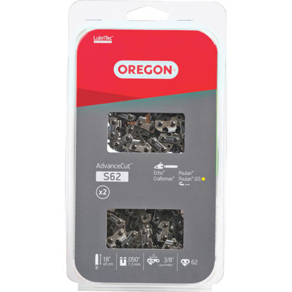 Picture of Oregon AdvanceCut LubriTec S62T 18 In. 3/8 In. Low Profile 62 Link Chainsaw Chain (2-Pack)