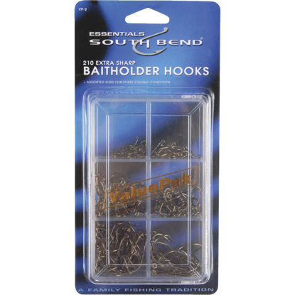 Picture of SouthBend 210-Piece Value Pack Assorted Bait Fishing Hook Kit
