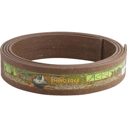 Picture of Master Mark Rhino Edge 3.5 In. H. x 16 Ft. L. Chestnut Brown HDP & Recycled Wood Lawn Edging