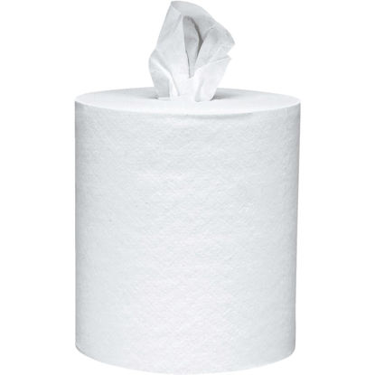 Picture of Kimberly Clark Kleenex White Premiere Center Flow Roll Towel (4 Count)