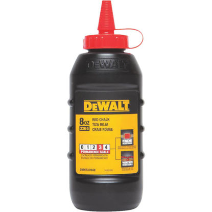 Picture of DeWalt 8 Oz. Red Chalk Line Chalk