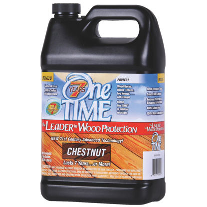 Picture of One TIME Chestnut Wood Preservative Protector & Stain All In One, 1 Gal.
