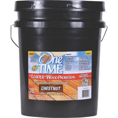 Picture of One TIME Chestnut Wood Preservative, Protector & Stain All In One, 5 Gal.
