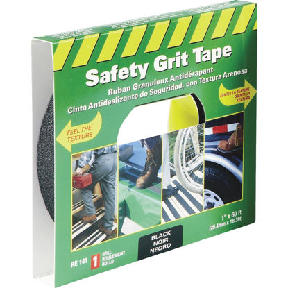 Picture of LIFESAFE 1 In.x 60 Ft. Black Anti-Slip Walk Safety Tape