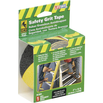 Picture of LIFESAFE 2 In.x 15 Ft. Yellow/Black Anti-Slip Walk Safety Tape