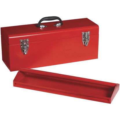 Picture of 20 In. Red Steel Toolbox