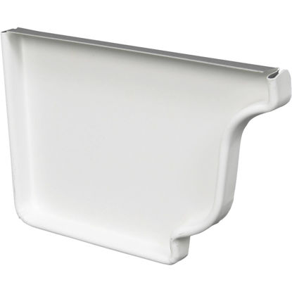 Picture of Amerimax 4 In. Galvanized White Left Gutter End Cap