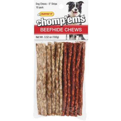 Picture of Westminster Pet Ruffin' it Chomp'ems 3.52 Oz. Beefhide Strip, 10-Pack