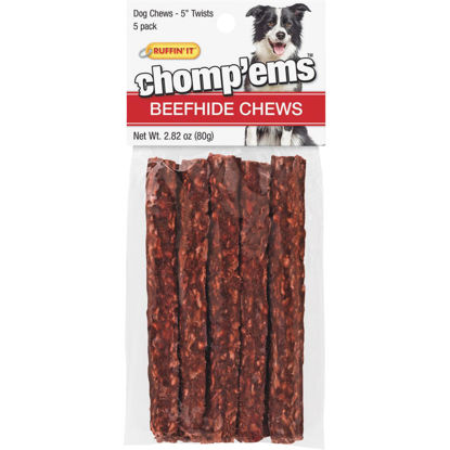 Picture of Westminster Pet Ruffin' it Chomp'ems 2.82 Oz. Beefhide Twist, 5-Pack
