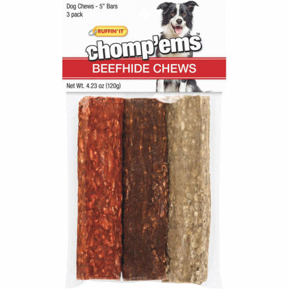 Picture of Westminster Pet Ruffin' it Chomp'ems 4.23 Oz. Beefhide Bar, 3-Pack