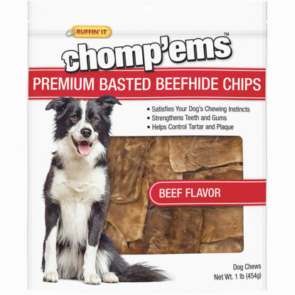Picture of Westminster Pet Ruffin' it Chomp'ems 1 Lb. Beef Rawhide Chips