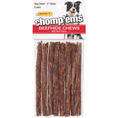 Picture of Westminster Pet Ruffin' it Chomp'ems 5 In. BBQ Beef Chew Roll (8-Pack)