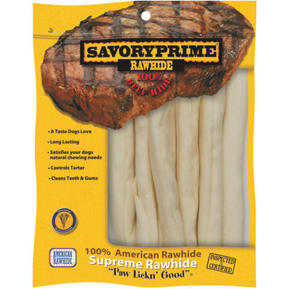 Picture of Savory Prime Natural Stick 9 In. to 10 In. Rawhide Chew