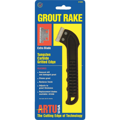 Picture of ARTU Grout Rake w/Tungsten Carbide Grit Blade