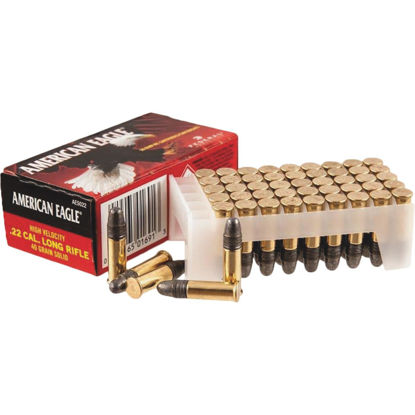 Picture of American Eagle Federal .22 LR 40 Grain Solid Rimfire Ammunition Cartridges