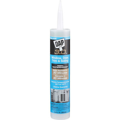 Picture of DAP 3.0 9 Oz. Crystal Clear Window, Door, Trim, & Siding All Purpose Siliconized Acrylic Latex Caulk