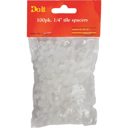 Picture of Do it 1/4 In. White Hard Tile Spacers (100-Pack)