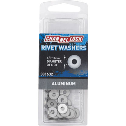 Picture of Channellock 1/8 in. Aluminum Rivet Washer (30-Pack)