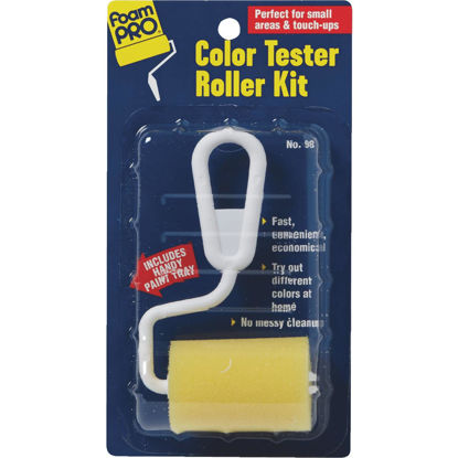 Picture of FoamPro Color Tester 3 In. x 5 In. Foam Roller Cover & Frame